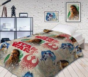 """Покрывало """"Непоседа"""" Star Wars Чубакка 145х200 хлопок 100 бязь детский стеганое мультиколор"""