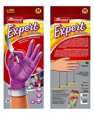 """Перчатки латексные""""KINGFISHER"""" EXPERT хозяйственные, особо прочные, размер """"M"""", 1 пара в упаковке."""