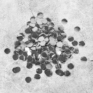 """Наполнитель для шара """"Конфетти круг"""" 1 см, фольга, цвет серебряный 500г"""