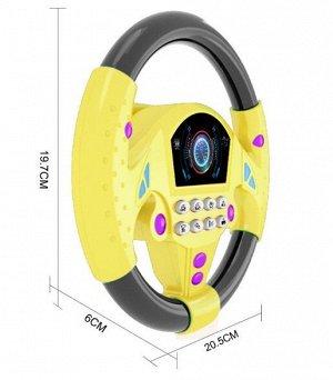 Руль Симулятор рулевого управления для детей. Есть звуковое сопровождение. Работает от 2 батареек АА. Крепиться на присосках