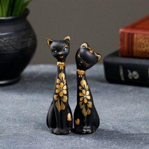 """Фигура """"Love Коты"""" мини набор 2шт черные 4?4?11см 080"""