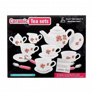 Набор керамической посуды «Чайный сервиз», с приборами