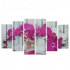 """Картина модульная на подрамнике """"Орхидея фаленопсис""""  150*84 см"""