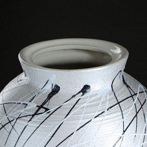 """Ваза напольная """"Арго"""" перламутр переход. 63 см. микс. керамика"""