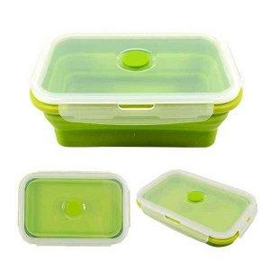 Контейнер для еды силиконовый складной на защелках 18,5х12 см