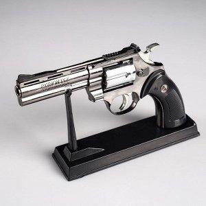 """Зажигалка на подставке """"Револьвер"""", пьезо, газ, 24х14 см"""