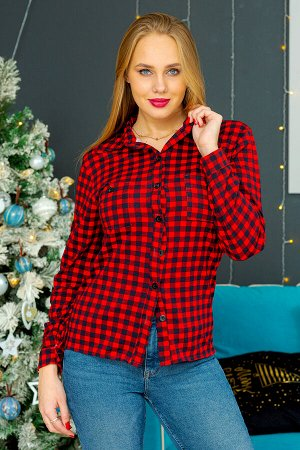 Рубашка Хилари-К (Красный)