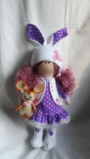 Интерьерная игрушка, кукла, 26 см