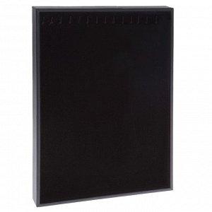 Подставка универсальная, 14 крючков, цвет чёрный 24*3*35 см