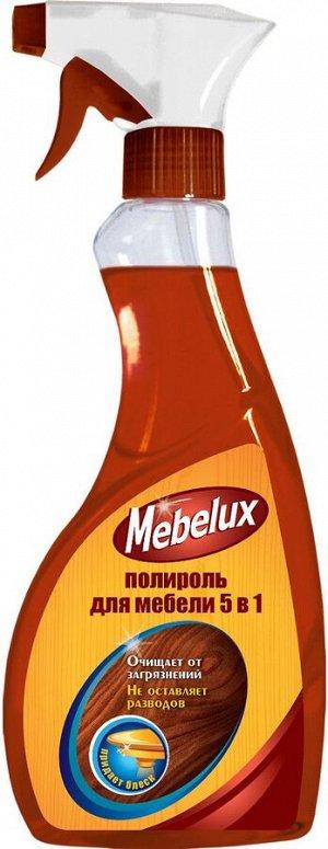 Полироль MEBELUX 500мл 5 в1 д/мебели д/любых поверхностей