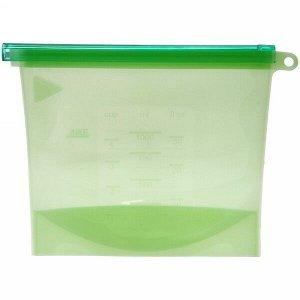 Контейнер силиконовый для приготовления и хранения продуктов с застежкой 1000мл
