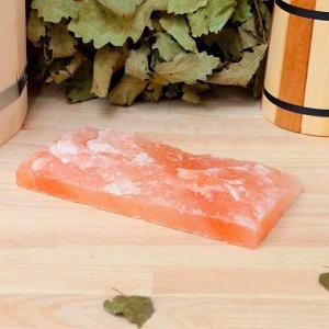 """Плитка из гималайской соли натуральная, 20х10х2,5, """"Добропаровъ"""""""