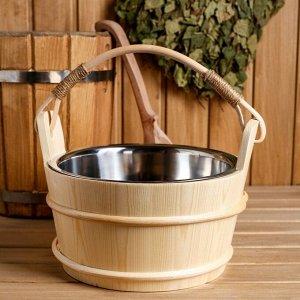 Ведро для бани с нержавеющей вставкой, 3,7 литра 27х22х21 см