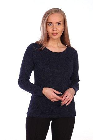 Джемпер Женская трикотажная блуза с О-образным вырезом горловины. Длина изделия до уровня обхвата бёдер. Втачной рукав. Идеальный вариант для базового гардероба. Приятный к телу, дышащий материал.Оп