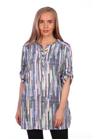 Туника-рубашка яркие краски