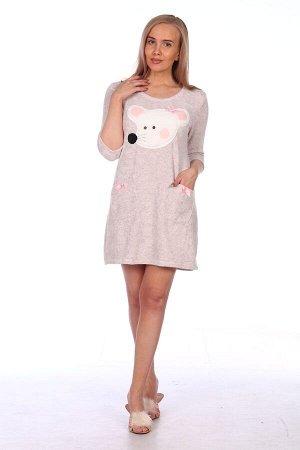 Платье Платье женское трикотажное. Оптимальное соотношение цены и качества. Ткань: Махра (хлопок + п/э) Артикул: М-635