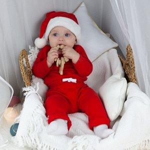 Велюровая шапка Santa красная - (Evgakids)