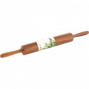 Скалка СКАЛКА AGNESS 44,5/4,5*4,5 СМ (КОР=12ШТ.)  Материал: Бамбук Скалка ТМ AGNESS – отличный выбор! Скалка - необходимая кухонная утварь для раскатки теста любой толщины. УДОБНЫЕ  для захвата ручки