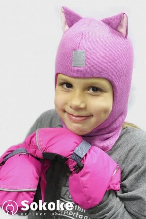 Шапка-шлем детская (цвет 061 камелия, 0)