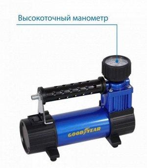 Компрессор Goodyear GY-30L CASE 30 л/мин съемный резиновый шланг, кейс для хранения GY000114