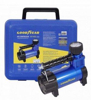 Компрессор Goodyear GY-45L CASE 45л/мин, питание от АКБ, съемный шланг, кейс для хранения GY000116