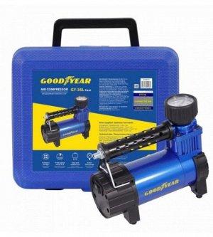 Компрессор Goodyear GY-35L CASE 35 л/мин съемный резиновый шланг, кейс для хранения GY000115