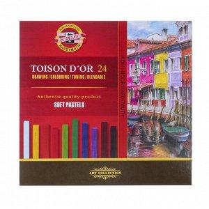 Пастель сухая художественная 24 цвета, Soft Koh-I-Noor TOISON D`OR 8584