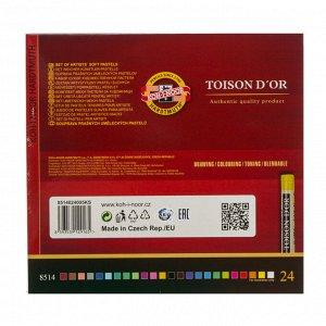 Пастель сухая художественная 24 цвета, Koh-I-Noor TOISON D`OR 8514/24