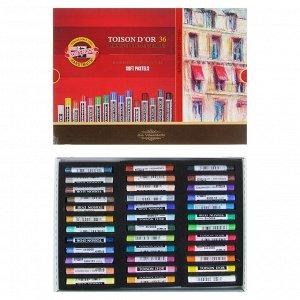 Пастель сухая художественная 36 цветов, Koh-I-Noor TOISON D`OR 8515/36