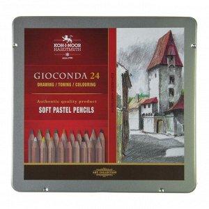 Пастель сухая в карандаше набор 24 цветов, Koh-I-Noor Soft GIOCONDA 8828