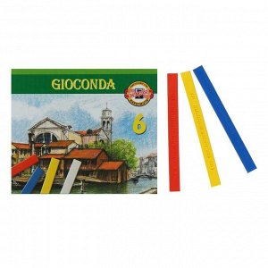 Пастель масляная 6 цветов, Koh-I-Noor 8111 GIOCONDA, квадратная, картонная упаковка