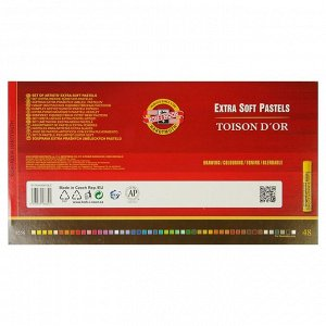 Пастель сухая экстра-мягкая художественная 48 цветов, Koh-I-Noor TOISON D`OR 8556/48