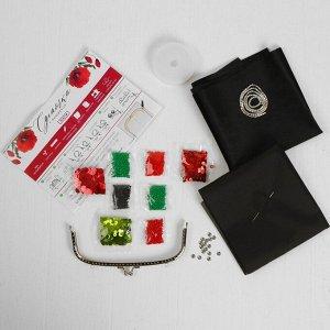 Вышивка бисером на сумке «Маки». Набор для творчества