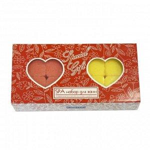 Набор ароматической шипучей соли для ванн Special Gift «Сердечки», микс, 320 г