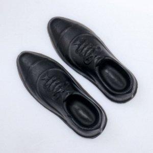 """Мыло фигурное """"Туфли мужские"""" чёрные 60 г"""