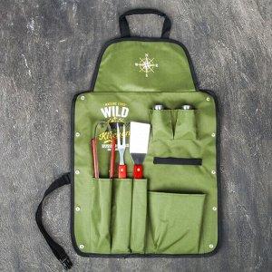 """Фартук """"Wild Kitchen"""", зеленый, 63 х 43 см"""