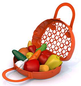 """Нордпласт Набор """"Фрукты, овощи"""" (12 предметов в сумке-корзинке)"""