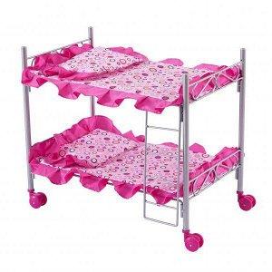 Кроватка д/кукол двухэтажная 8887B BUGGY BOOM