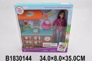 Кукла 200-67JX Продавец мороженого в кор.