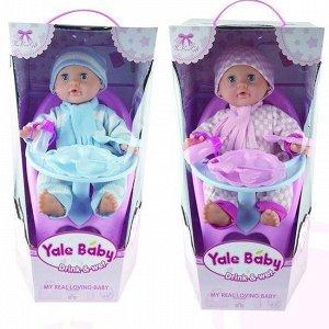 Пупс Yale Baby 1716AYL Стульчик для кормления и аксесс. в кор.