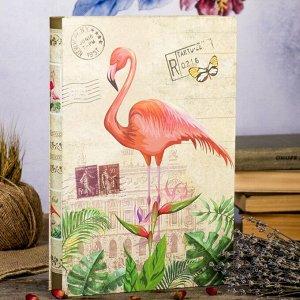 """Фотоальбом на 300 фото 10х15 см """"Фламинго в папоротнике"""" в коробке МИКС 33,5х23х5,5 см"""