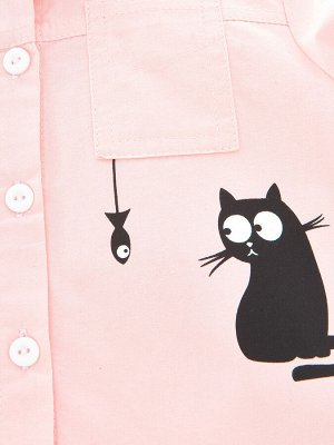Сорочка (рубашка) (98-122см) UD 6123(2)розовый