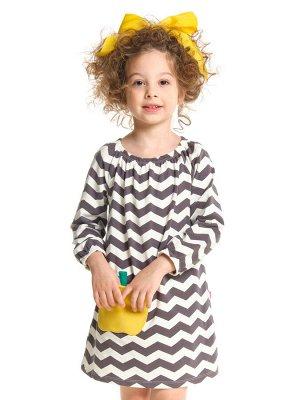Платье с дл.рукавом (98-116см) UD 0984(2)волна