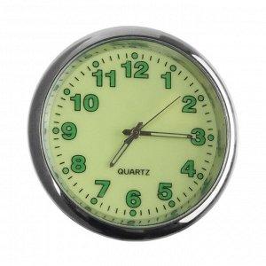 Часы автомобильные, внутрисалонные, диаметр 4.5 см, фотолюминесцентный циферблат