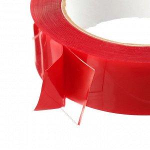 Клейкая лента TORSO, прозрачная, двусторонняя, акриловая, 30 мм х 5 м