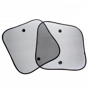 Шторки солнцезащитные TORSO для авто на присосках, 44х38см, набор 2 шт