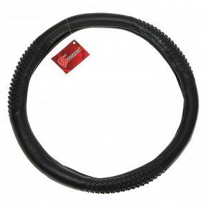 Оплётка TORSO, кожа PU, 3 массажные вставки, 38 см, черный