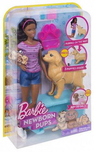Кукла Барби и Собака со щенками