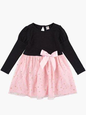 Платье, UD 4418 черн/роз/звезды