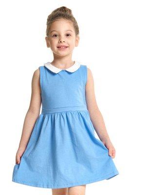 Платье c воротничком (92-116см) UD 1500(1)голубой